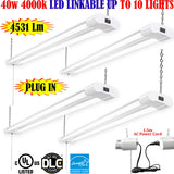 Led Shop Lights, Canada 4 Pack 40w 4000k Workshop Garage Commercial - LED Light World