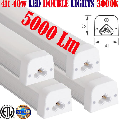 4 foot Led Shop Lights, Canada: 4pack 4ft 40w 3000k Garage Office Workshop - LED Light World