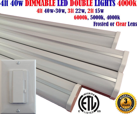 Dimmable Led Shop Lights, Canada: Led Dimmer+4pack 4ft 40w 4000k Garage - LED Light World