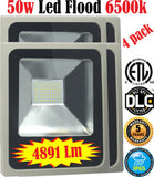 Led Flood Lights Canada: 4pack 50w 6500k Brightest Outdoor Yard Shop - LED Light World