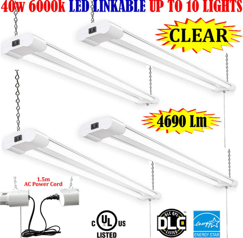 Pendant Light Fixtures, Canada 4 Pack 40w Clear 6000k Garage Shop 120V - LED Light Canada