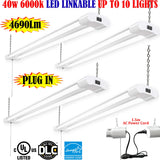 Led Garage Lights: Canada 4 Pack 40w 6000k Commercial Garage Shop 120V - LED Light World
