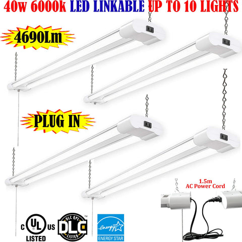 Led Garage Lights, Canada 4ft 40w 4 Pack 6000k Commercial Garage Shop 120V - LED Light Canada