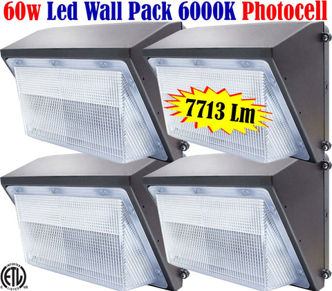 Outdoor Barn Lights, Canada Led 4pack 60w 6000k Photocell Yard Garage 120V - LED Light World