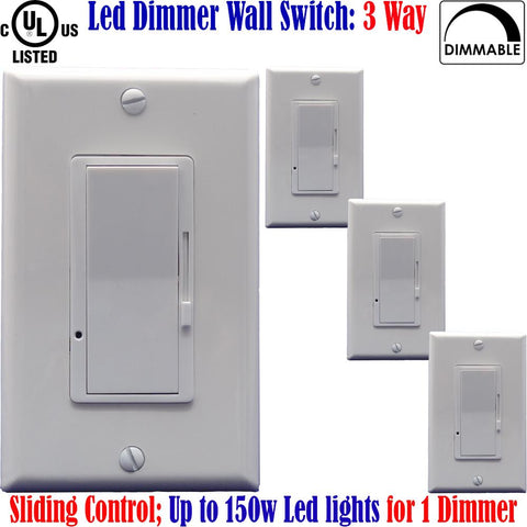 Three Way Dimmer Switch: Canada 4pack 3 Way Led Dimmable Dimmer Switch