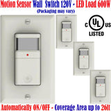 Motion Detector Light Switch, Canada: 4 Pack Occupancy Sensor 120V - LED Light Canada