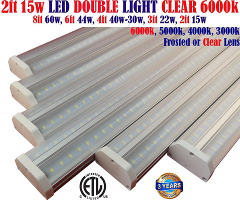Kitchen Under Cabinet Lighting, Canada 2ft 6 Pack 15w Clear 6000k Garage Shop - LED Light Canada