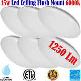 Brightest Ceiling Light Fixtures, Canada 6 Pack 15w 6000k Hallway Bathroom - LED Light Canada