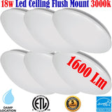 Ceiling Lights Canada 6 Pack 18w 3000k Living Room Kitchen Bedroom Hallway - LED Light World