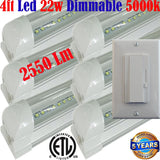 Led Shop Lights Canada, Dimmable: Led Dimmer+T8 6pack 4ft 22w Clear 5000k Garage - LED Light World