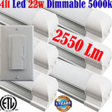 Dimmable Led Shop Lights, Canada: Led Dimmer+T8 6pack 4ft 22w 5000k Garage - LED Light World