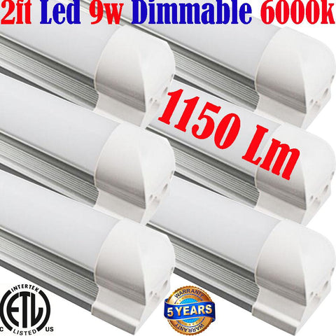 Dimmable Under Cabinet Lighting, Canada: T8 6pack 2ft 9w 5000k Shop Kitchen - LED Light World