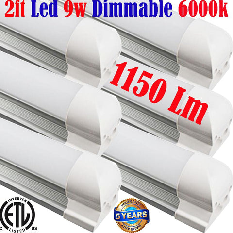 Dimmable Led Under Cabinet Lighting, Canada: T8 6pack 2ft 9w 6000k Shop Kitchen - LED Light World