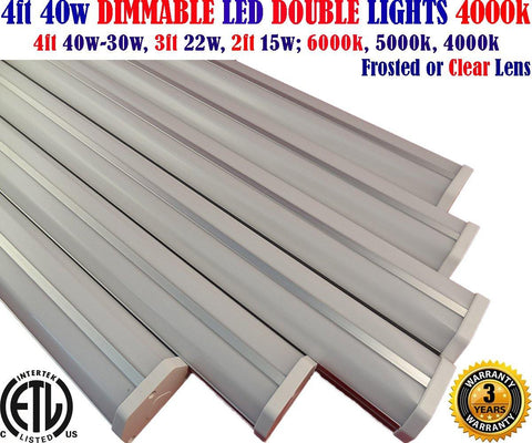 4 Foot Led Shop Lights, Dimmable Canada: 6 Pack 4ft 40w 4000k Linkable Shop Home - LED Light Canada