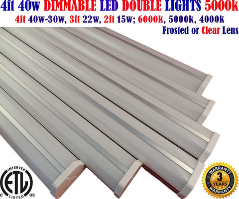 Dimmable, 4 Foot Led Shop Lights Canada: 6pack 4ft 40w 5000k Linkable Garage Office - LED Light World