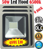 50w Led Floodlight, Canada 6 Pack Outdoor 6500k Bright Yard Commercial - LED Light World