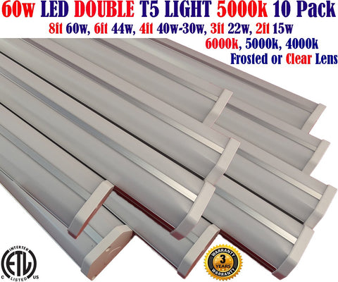 8ft Led Shop Lights, Canada: 10 Pack 60w 5000k Garage Shop Linkable 120V - LED Light World