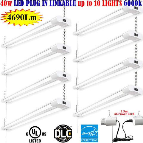 Led Lighting Toronto, Canada 4ft 40w 8 Pack 6000k Commercial Garage Shop - LED Light Canada