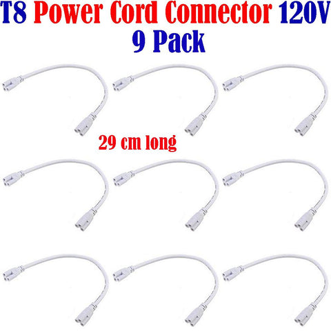 Led Light Connectors, Canada: 9pack for T8 Single Tube Light Fixtures 120V - LED Light Canada