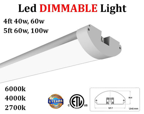 Led Office Lighting: Dimmable 2 Pack 4ft 40w 2700k Soft Warm 4800Lm - LED Light World