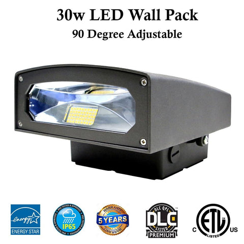 Led Wall Pack Garage Lighting: 30w 3100 Lm 5000k Canada Certified - LED Light World