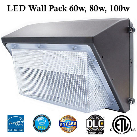 100w Led Wall Pack Outdoor Lighting: 12300 Lm 5000k Canada - LED Light Canada