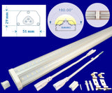 Linkable Led Shop Lights, Canada: 8ft 8pack 60w 5000k Garage Shop Linkable - LED Light World