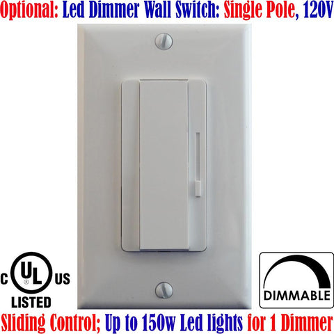 Single Pole Dimmer Switch: Canada 150w Led Dimmer Switch Dimmable - LED Light World