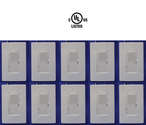 Dimmer LED Switch Light 10 pack: Canada Certified Single Pole 150w 120v - LED Light World