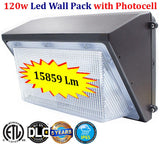 Outdoor Light Fixtures Canada: Led Wall Pack 120w 5000k Exterior Garage Yard - LED Light World
