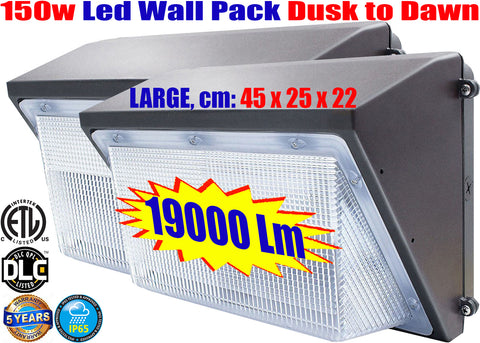 Led Wall Pack: Canada 150w 2pack Photocell 5000k Garage Yard Security - LED Light Canada