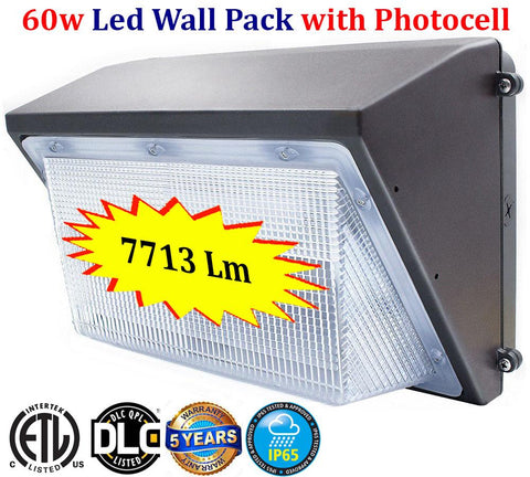 Exterior Lighting Canada: 60w Led Dusk to Dawn 6000k Outdoor Barn Garage Yard - LED Light World