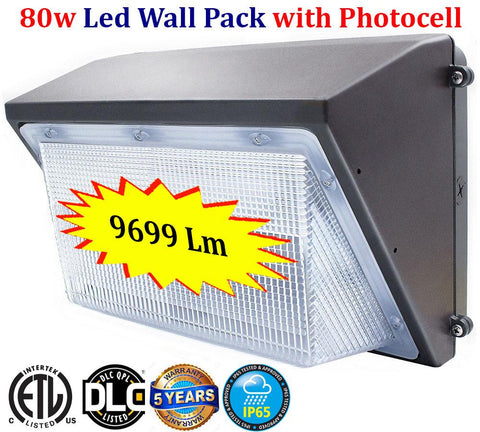 Dusk to Dawn Outdoor Lights Canada: 80w 6000k Outdoor Yard Exterior Garage - LED Light Canada