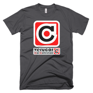 This is Veracore's t-shirt, Core Box, in Asphalt.