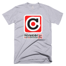 This is Veracore's t-shirt, Core Box, in Heather Gray.