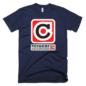This is Veracore's t-shirt, Core Box, in Navy.