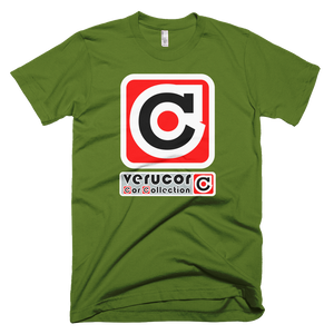 This is Veracore's t-shirt, Core Box, in Olive.