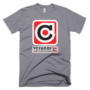 This is Veracore's t-shirt, Core Box, in Slate.