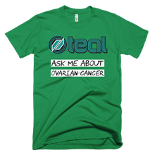 This is the Ask Me t-shirt in Kelly Green.