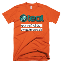 This is the Ask Me t-shirt in Orange.
