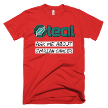 This is the Ask Me t-shirt in Red.