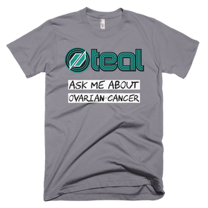 This is the Ask Me t-shirt in Slate.