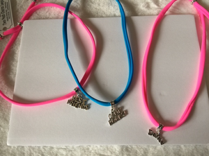 Camp Rocks Charm on Turquoise or Hot Pink Band