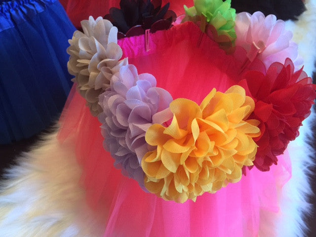 Wild Pink Tutu Centerpiece (rectangle)