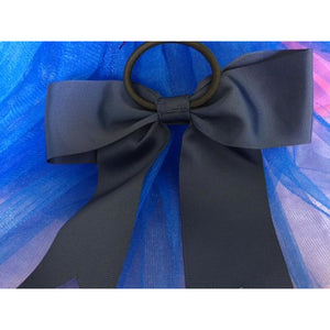 Navy Bow Ponytail Holder - Great Cheer Bows too!