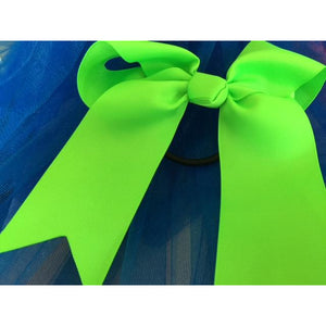 Lime Bow Ponytail Holder - Great Cheer Bows too!