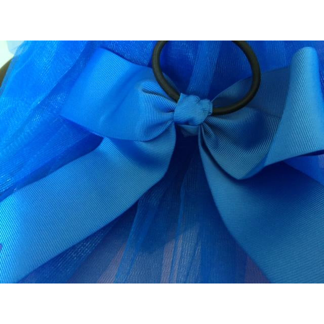 Royal Blue Bow Ponytail Holder - Great Cheer Bows too!