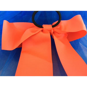 Orange Bow Ponytail Holder - Great Cheer Bows too!