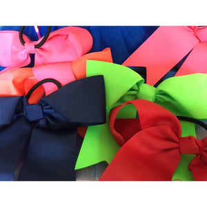 Red Bow Ponytail Holder - Great Cheer Bows too!