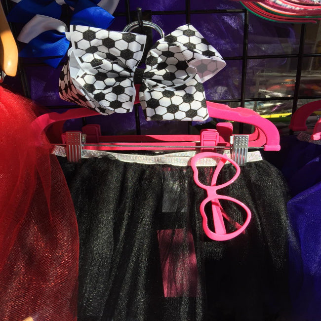 "Black ""BLING IT"" Tutu with Sparkly Stars and Hearts"